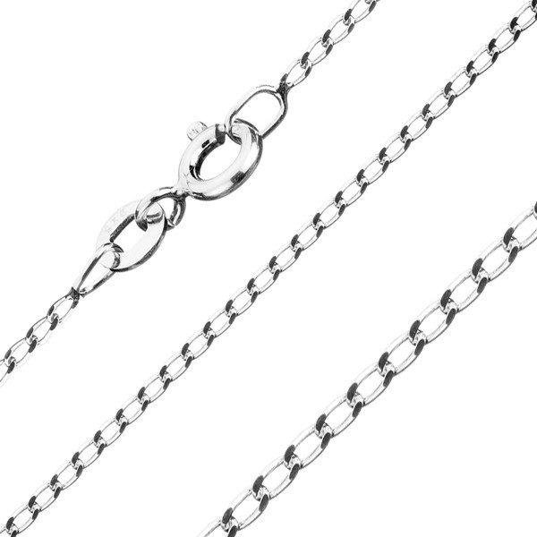 Řetízek ze stříbra 925 – hladká podlouhlá očka