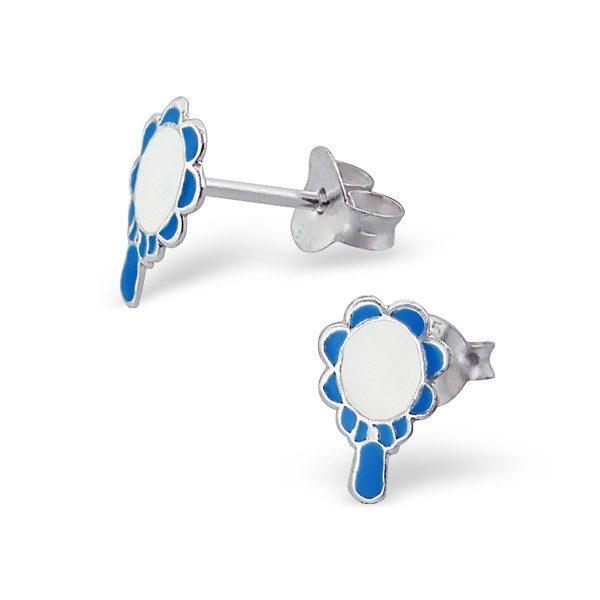Náušnice ze stříbra 925 – kouzelné zrcadlo – Barva: Růžová