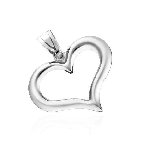 Stříbrný přívěsek 925 – nepravidelná silueta srdce
