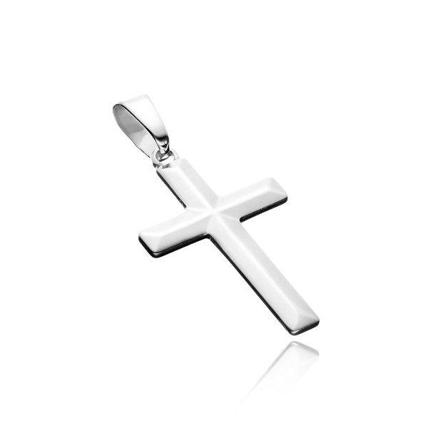 Přívěsek ze stříbra 925 – jednoduchý latinský kříž