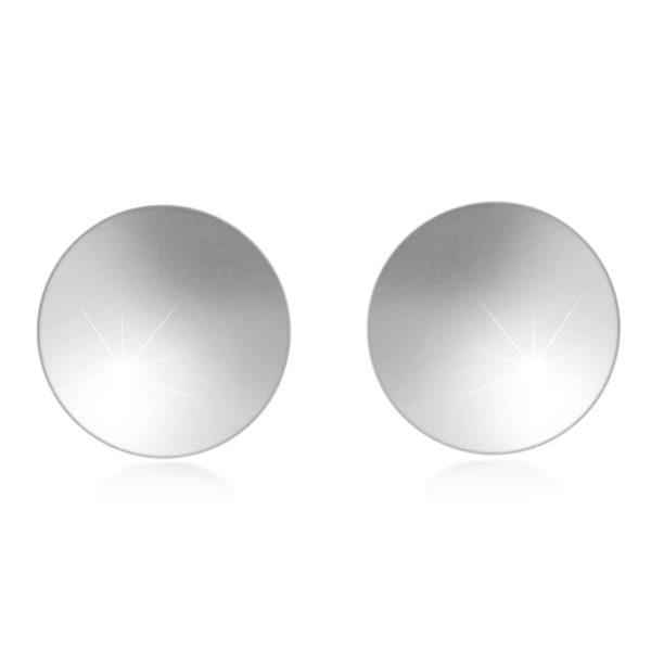 Stříbrné 925 náušnice – plochý hladký kroužek