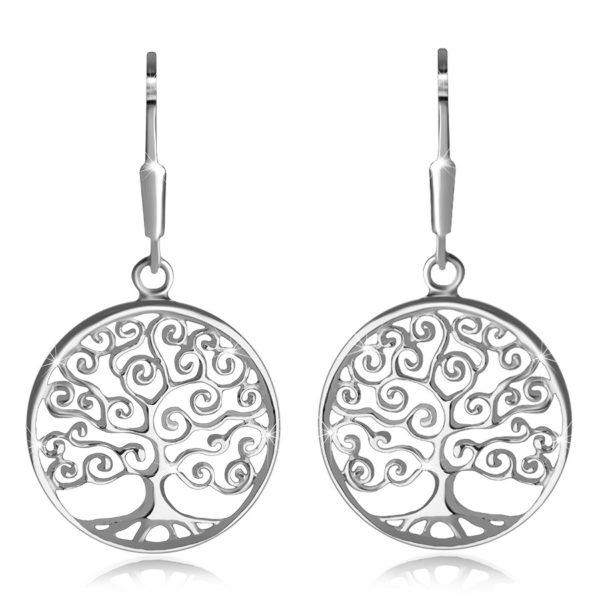 Stříbrné 925 náušnice – tenká linie kroužku