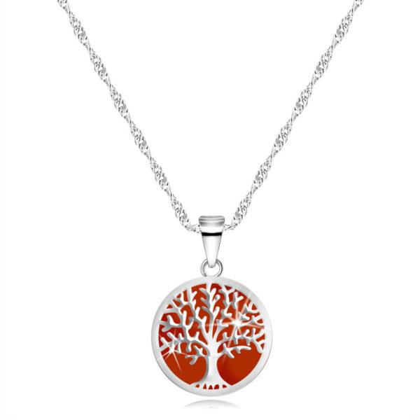 Stříbrný 925 náhrdelník – přívěsek ve tvaru kruhu
