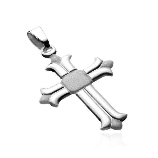 Stříbrný přívěsek 925 – latinský kříž s rozvětvenými cípy