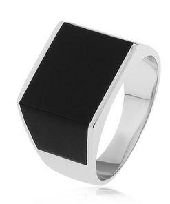 Lesklý prsten ze stříbra 925