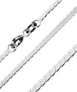 Lesklý řetízek ze stříbra 925 - esovitá linie
