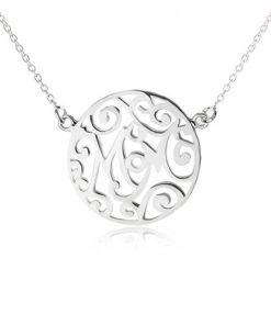 Náhrdelník ze stříbra 925 - řetízek a vyřezávaný kruh