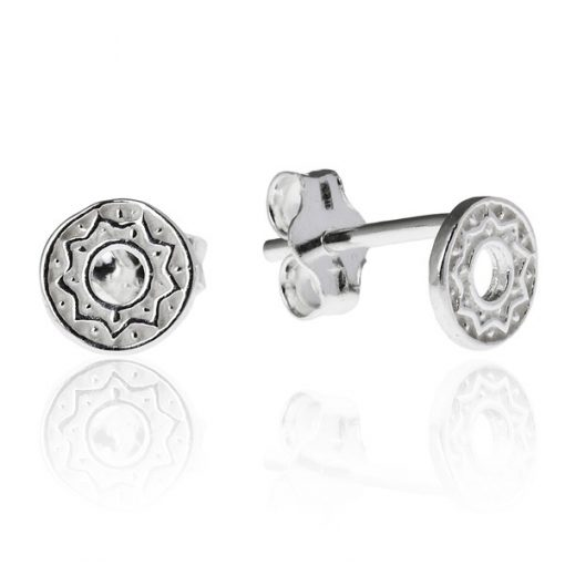 Náušnice ze stříbra 925 - kruh s cik-cak vzorem