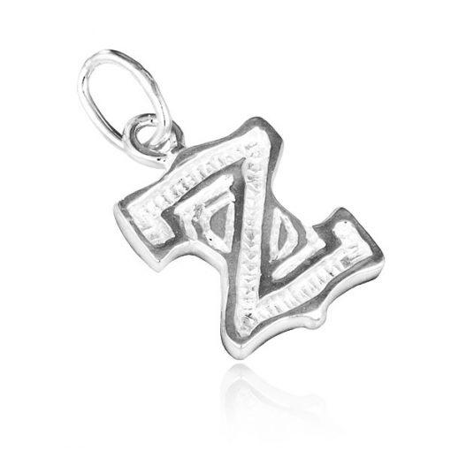 Přívěsek ze stříbra 925 - písmeno Z s vroubky