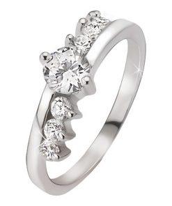 Prsten ze stříbra 925 - kulatý čirý kamínek