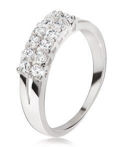Prsten ze stříbra 925 - rozdvojená ramena