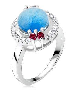 Prsten ze stříbra 925 - zirkonová obroučka