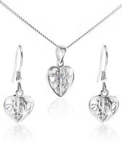 Set ze stříbra 925 - náhrdelník a náušnice