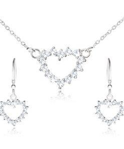 Set ze stříbra 925 - náhrdelník a visací náušnice