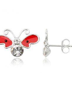 Stříbrné náušnice 925 - motýl