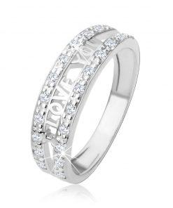 "Stříbrný 925 prsten - nápis ""I LOVE YOU"""