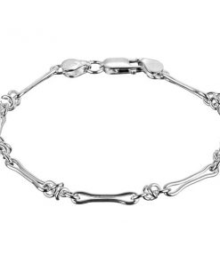 Stříbrný náramek - motiv propojených kostiček