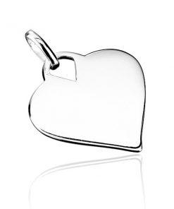 Stříbrný přívěsek 925 - hladké lesklé srdce