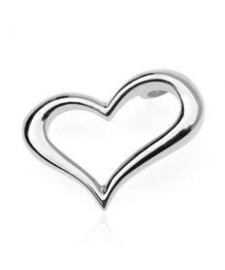 Stříbrný přívěsek 925 - zvlněné obrysové srdce