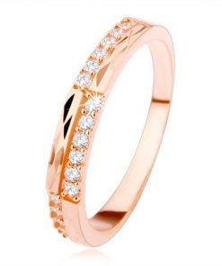 Stříbrný prsten 925 měděné barvy