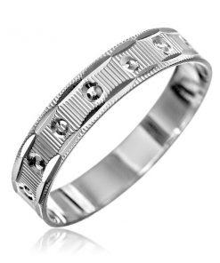 Stříbrný prsten 925 - vroubky
