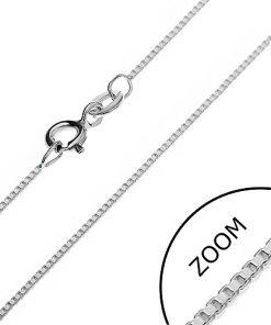 Stříbrný řetízek 925 - hustě propojené prázdné kostky