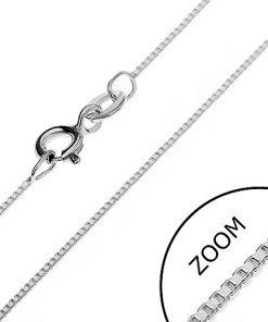 Stříbrný řetízek 925 - kolmo propojené prázdné kostky