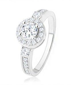 Stříbrný zásnubní prsten 925