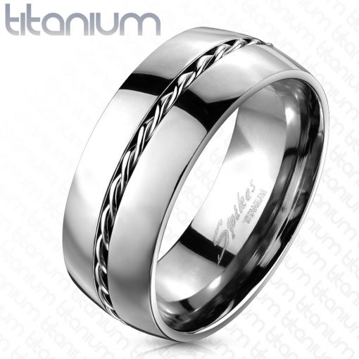 Titanový prsten - stříbrný kroužek
