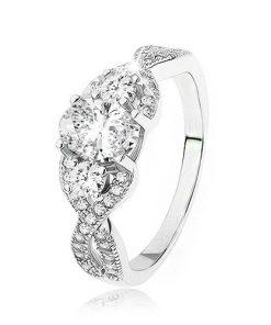 Zářivý stříbrný prsten 925