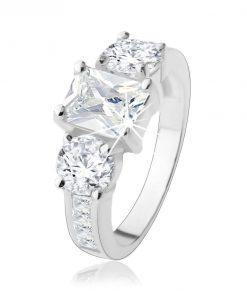 Zásnubní prsten ze stříbra 925