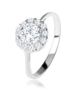 Zásnubní stříbrný 925 prsten