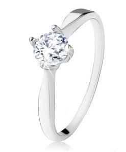 Zásnubní stříbrný prsten 925