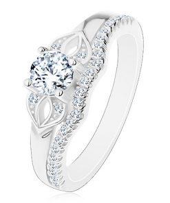 Blýskavý prsten ze stříbra 925