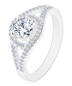 Blýskavý zásnubní prsten