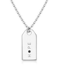 Černý diamant - náhrdelník ze stříbra 925