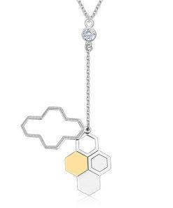 Náhrdelník ze stříbra 925 - včelí plást