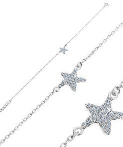 Náramek ze stříbra 925 - zirkonová mořská hvězdice