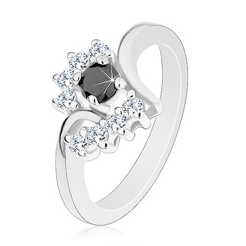 Prsten s lesklými rameny