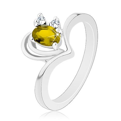 Prsten ve stříbrné barvě s oblouky