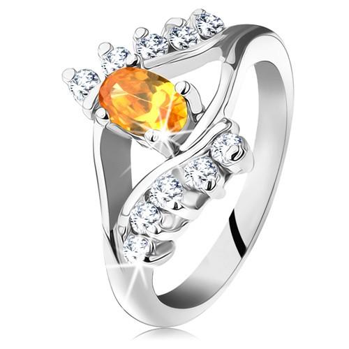 Prsten ve stříbrné barvě s úzkými rameny