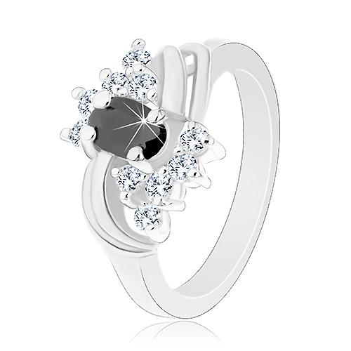 Prsten ve stříbrném odstínu s hladkými lesklými oblouky