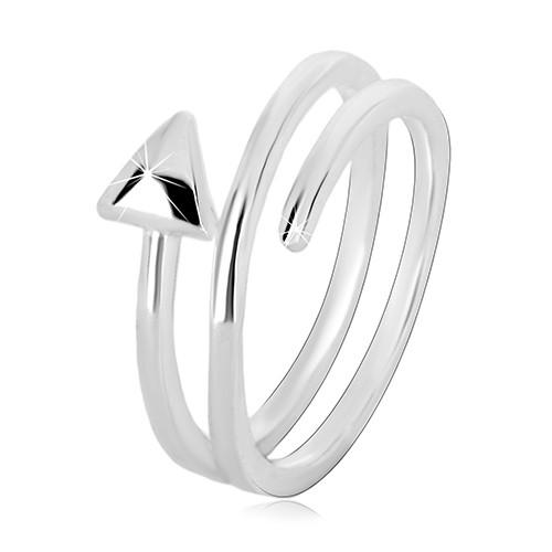 Prsten ze stříbra 925 - úzká spirálovitě zatočená šipka