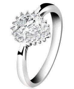 Rhodiovaný prsten ze stříbra 925