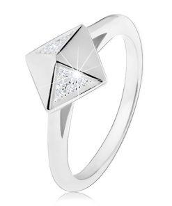 Rhodiovaný stříbrný prsten 925