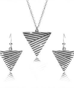 Sada ze stříbra 925 - náhrdelník a náušnice