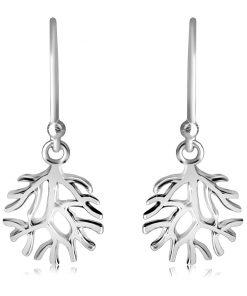 Stříbrné 925 náušnice - rozvětvené větve stromu