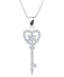 Stříbrný 925 náhrdelník - řetízek s přívěskem