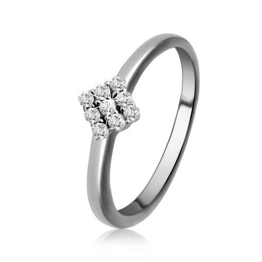 Stříbrný 925 prsten - linie kruhu