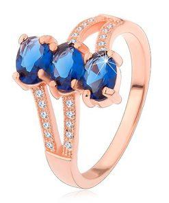 Stříbrný 925 prsten v měděném odstínu